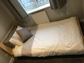 IKEA Malm Wooden Single Bed Frame with Foam Mattress