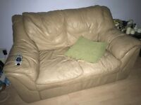 Camel leather sofa -cheap
