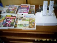 Nintendo Wii console and 10 games.