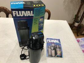Fluval 103 Aquarium External Filter. For 100L / 25gal Aquariums. Used.