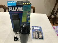 Fluval 103 Aquarium External Filter. For 100L / 25gal Aquariums. Used.