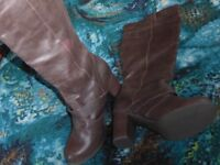 George Brown knee high boots with high heels hardly worn 61/2.