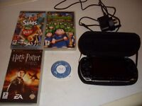 psp console + games
