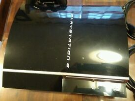 PS3 60gb piano black in very good mint condition