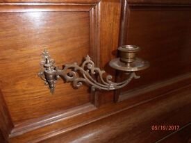 Pair of Brass piano Sconces