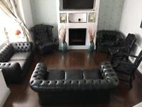Chesterfield leather sofa suite 3 2 1 1