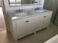 VICTORIAN DOUBLE BASIN MARBLE TOP SALVAGED