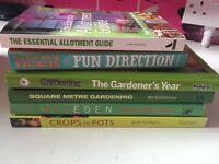 5 gardening books - great condition
