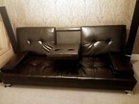 Faux Leather Manhattan Sofa Bed recliner 3 Seater Modern Luxury Design Furniture