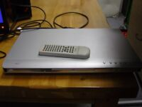 Tosumi Slimline DVD Player. Silver. With Remote