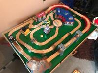 Thomas wooden train track and table