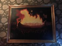 Bespoke painting of Up helly aa fire festival