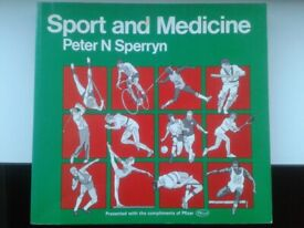 """""""SPORT AND MEDICINE"""" Book By Peter N Sperryn"""