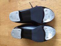 Tap dancing shoes, capezio, children's, size 10.5