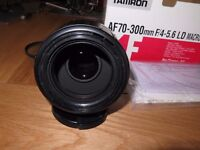 Tamron 70-300mm F/4-5.6 LD Macro lens, Canon Fit.
