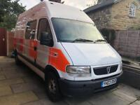 Vauxhall Movano 3500 2.5 DTI Only 17,700 Miles FSH 8 Seater Day van / Campervan