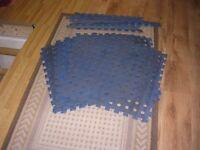 Blue interlocking mats