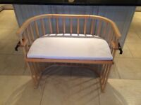 Babybay Bed-side cot and mattress in beech
