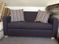 ULLVI Two-seat sofa-bed, Ransta dark grey