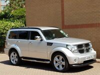 DODGE NITRO SXT DIESEL AUTO 09 REG, SAT-NAV,LEATHER, STUNNING LOOKING JEEP, FSH, IMMACULATE CON