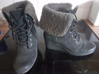 Ladies UGG wedge boots size 6.5 used