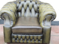 Leather Quality Chesterfield Chair (Delivery)