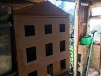 victorian style dolls house with furnture
