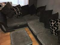Corner sofa and footstool DFS REDUCED good quality