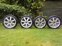 "FORD FOCUS MONDEO CONNECT GENUINE 4 x 18"" ALLOY WHEELS 5 STUD & TYRES 225/40 ZR 18 92Y"