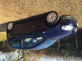 Fantastic royal blue, low mileage, VW Fox for sale. £2,500 ono