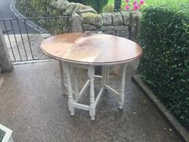 GATE LEG TABLE SHABBY CHIC PROJECT REDUCED