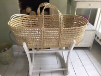 MOSES BASKET AND CRADLE