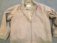 Men's suede effect jacket