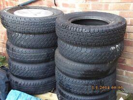 Landrover Freelander Mk 1 Steel Wheels & Tyres.