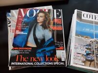 Vogue and Cote Sud, French interiors magazine - free to collect.