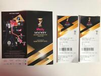 2 x Hockey World Cup Quarter Final Tickets