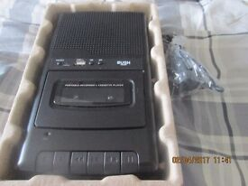 Cassette Recorder with USB. As new with power. Boxed.
