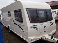 SUPERB 2012 Bailey Olympus 530 4 Berth Fixed Bed End Washroom Caravan with Motor Mover