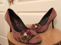Pink suede Italian designer shoes