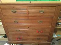 Antique solid wood drawers