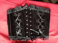 Beautiful black corset top and underbust corset