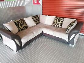 Velvet Corner Sofa - Delivery Available - Very Good Condition