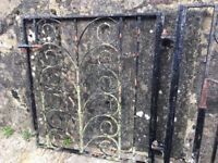 large wrought iron gate,