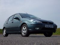 Only £695 - 2002 Ford Focus 1.6 Zetec - 5 door hatchback - hpi clear and MOT'd to 9/2/2016