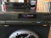 Technics 5 disk multi CD player hifi separates