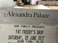 2x Fat Freddys drop tickets 3 Jun Alexandra Palace