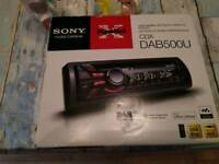 Sony dab car stereo virtually brand new