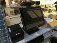 Almost new touchscreen Epos system x2