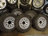 set of 5 LANDROVER wheels and new 235 70 16 tyres £200