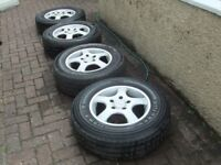 Mercedes Sprinter Van 16 inch alloy wheels with tyres plus spare (may fit VW Crafter)